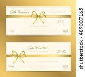 elegant gift card or gift... | Shutterstock .eps vector #489007165