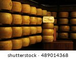 typical italian hard parmesan... | Shutterstock . vector #489014368