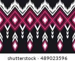 geometric ethnic oriental... | Shutterstock .eps vector #489023596