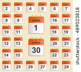 set of icons for the calendar...   Shutterstock .eps vector #489023818