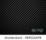 vector black carbon fiber... | Shutterstock .eps vector #489026698