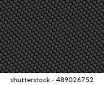 vector black carbon fiber... | Shutterstock .eps vector #489026752