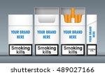 digital vector white cigarette... | Shutterstock .eps vector #489027166