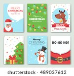 merry christmas and happy new... | Shutterstock .eps vector #489037612