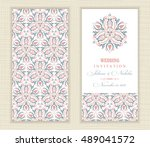 wedding invitation cards in an... | Shutterstock .eps vector #489041572
