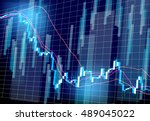 stock prices market chart | Shutterstock .eps vector #489045022