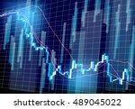 stock prices market chart | Shutterstock .eps vector #489045022