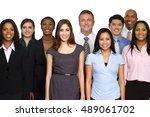 large group of business people | Shutterstock . vector #489061702