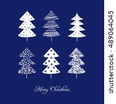 christmas card with christmas... | Shutterstock .eps vector #489064045