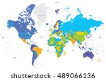 political world map with... | Shutterstock .eps vector #489066136