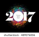 abstract celebration background ... | Shutterstock .eps vector #489076006