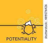 vector business illustration in ... | Shutterstock .eps vector #489076426