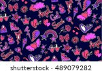 fashion seamless background...   Shutterstock .eps vector #489079282