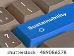 hot key for sustainability | Shutterstock . vector #489086278