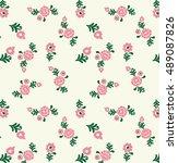 embroidery design | Shutterstock . vector #489087826