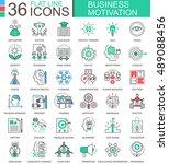 vector business motivation... | Shutterstock .eps vector #489088456