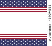 flag usa and labor day icon.... | Shutterstock .eps vector #489094558