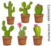 green desert plant nature...   Shutterstock .eps vector #489094972