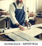 carpenter craftsman handicraft... | Shutterstock . vector #489097816
