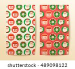 merry christmas elements   card ... | Shutterstock .eps vector #489098122