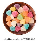 Colorful Heart Shape Jellys On...