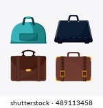 bags of baggage and luggage... | Shutterstock .eps vector #489113458