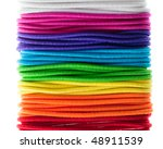 Set Of Colorful Hair Bands On...