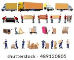 moving house  moving office ... | Shutterstock .eps vector #489120805