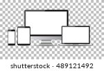 realistic device flat icons ...   Shutterstock .eps vector #489121492