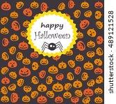halloween postcard | Shutterstock .eps vector #489121528