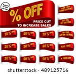 clothes labels with percentage... | Shutterstock .eps vector #489125716