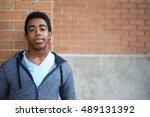 african american student having ... | Shutterstock . vector #489131392