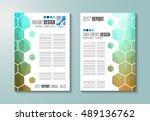 brochure template  flyer design ... | Shutterstock . vector #489136762