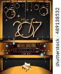 2017 happy new year background... | Shutterstock . vector #489138532
