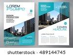 business brochure flyer design... | Shutterstock .eps vector #489144745