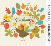 Thanksgiving Day Card With Cut...