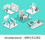 isometric flat interior of... | Shutterstock .eps vector #489151282