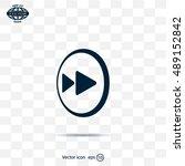 rewind  vector icon | Shutterstock .eps vector #489152842