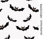 seamless halloween pattern. | Shutterstock . vector #489155998