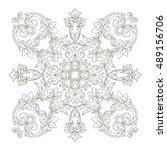 vintage baroque element... | Shutterstock .eps vector #489156706