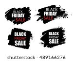 black friday sale background... | Shutterstock .eps vector #489166276