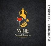 wine list design  wine shop ... | Shutterstock .eps vector #489168676