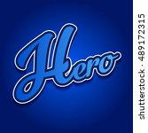 hero logo type | Shutterstock .eps vector #489172315