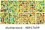 giant retro party collection ...   Shutterstock .eps vector #48917659
