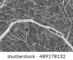 vector detailed map paris | Shutterstock .eps vector #489178132
