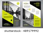 business brochure flyer design... | Shutterstock .eps vector #489179992
