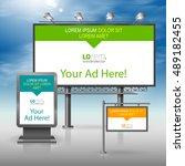outdoor advertising design for... | Shutterstock .eps vector #489182455