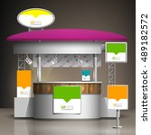 exhibition stand design with... | Shutterstock .eps vector #489182572