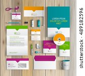 corporate identity template... | Shutterstock .eps vector #489182596