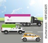 transport advertising design...   Shutterstock .eps vector #489182605